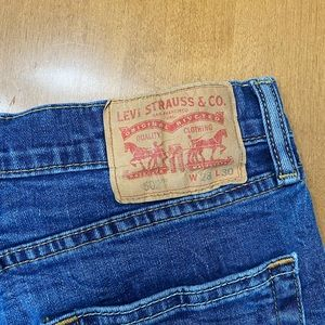 hand distressed orange tag LEVIS shorts!!!